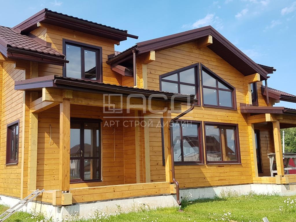 Дом из клееного бруса в Пушкине