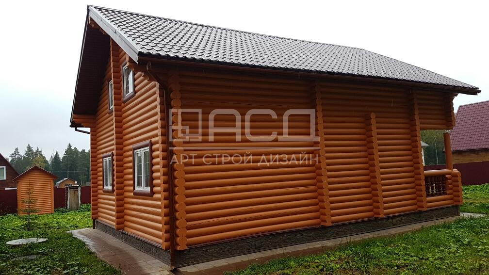 Дом из оцилиндрованного бревна в М.О д.Кузнецово
