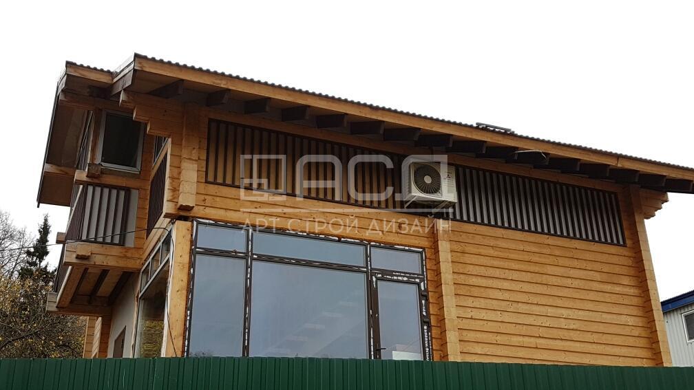 Кафе из клееного бруса в деревне Соколово (Истринский район)