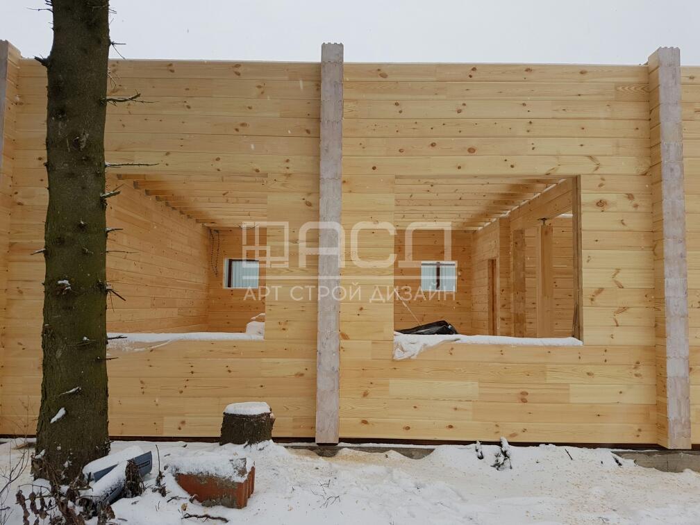 Двухэтажный дом из клееного бруса в Тульской области