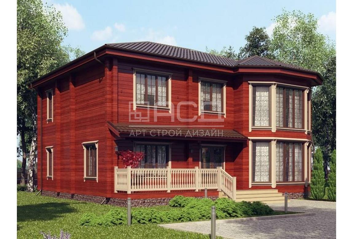 Проект дома из клееного бруса Канны