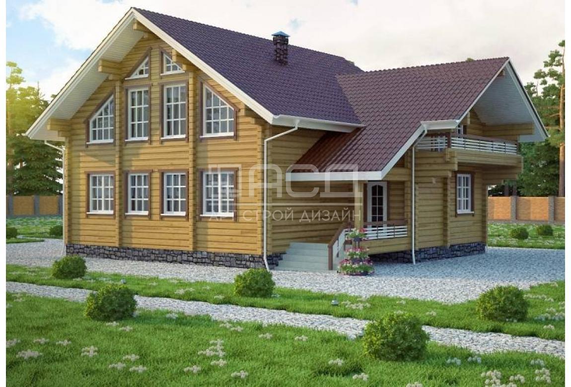 Проект дома из клееного бруса Женева