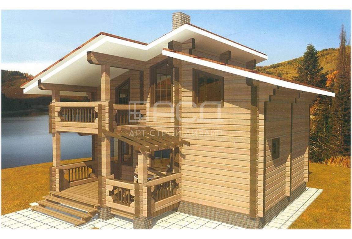 Проект дома из клееного бруса Агат