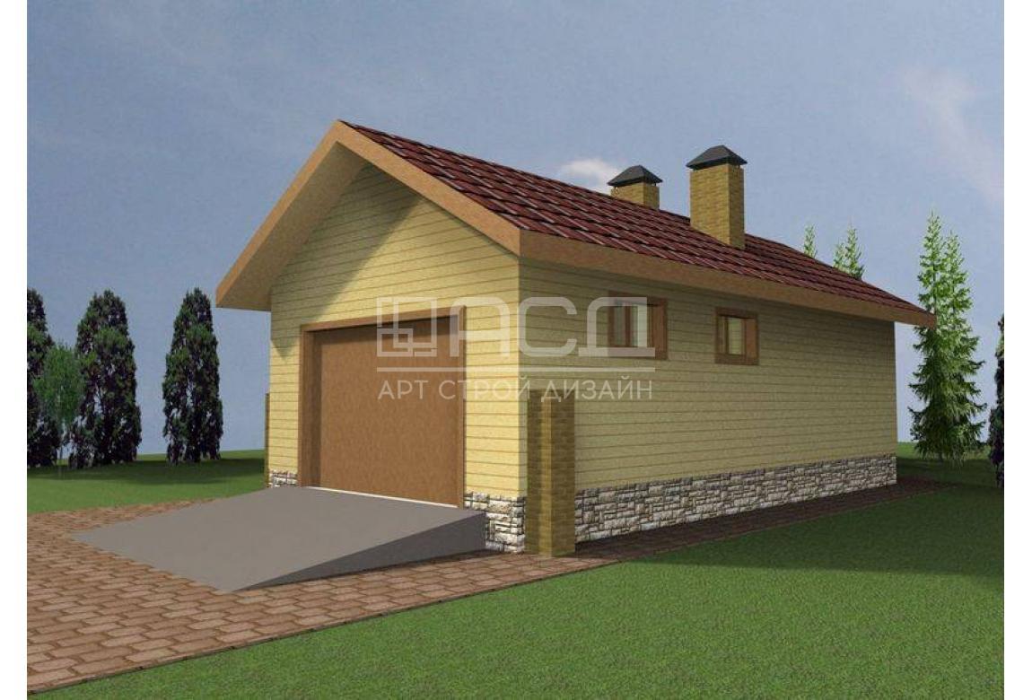 Проект гаража МП-804