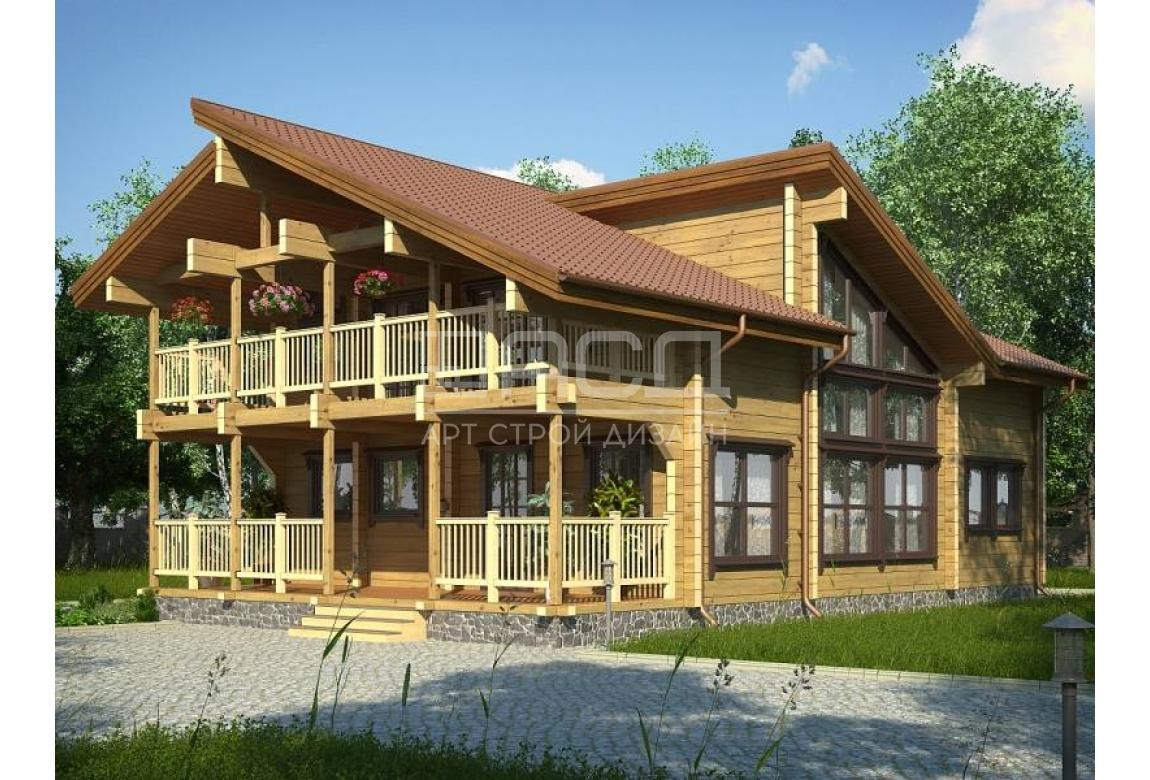 Проект дома из клееного бруса Прованс