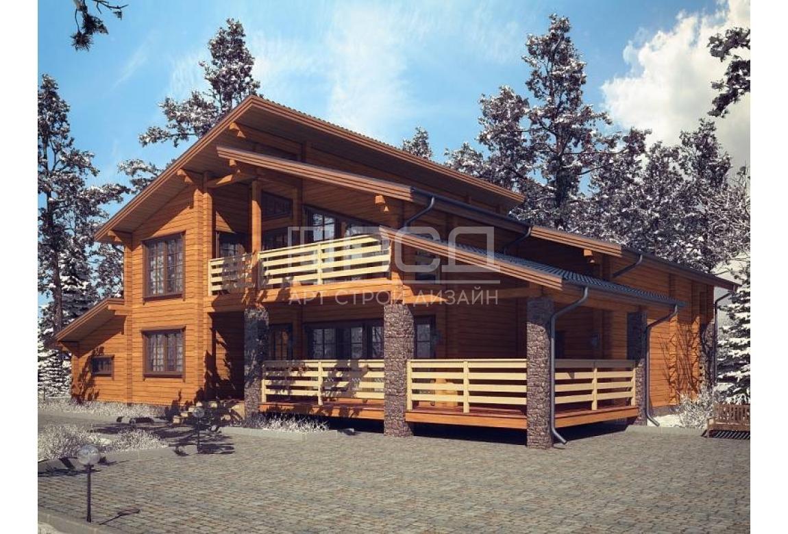 Проект дома из клееного бруса Ольденбург