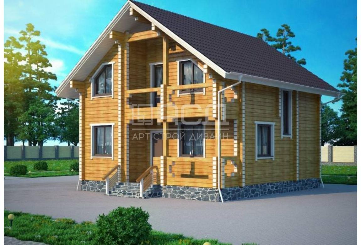 Проект дома из клееного бруса Бремен