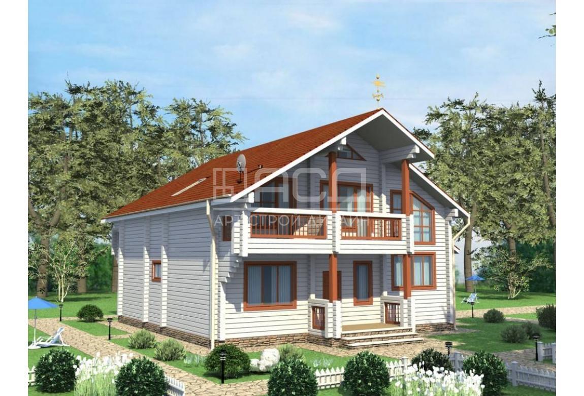 Проект дома из клееного бруса Запад