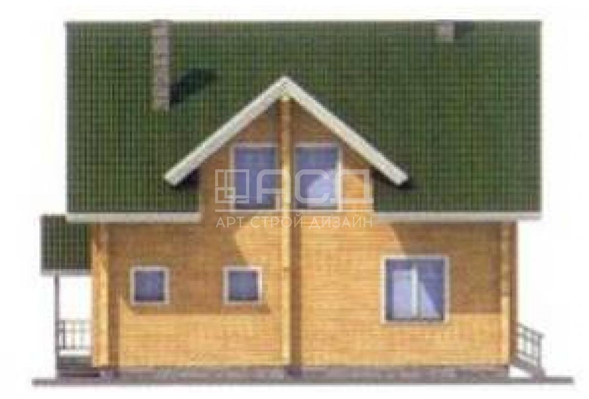 Проект дома из клееного бруса 11-71