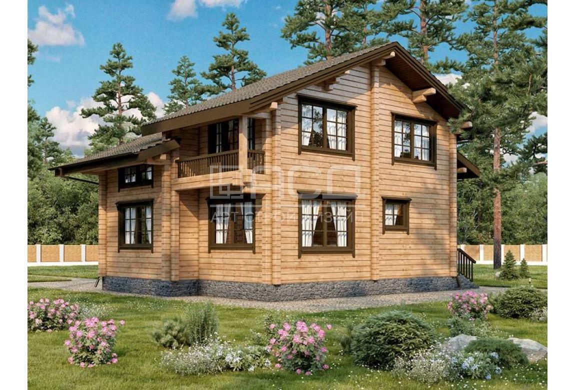 Проект дома из клееного бруса Шале