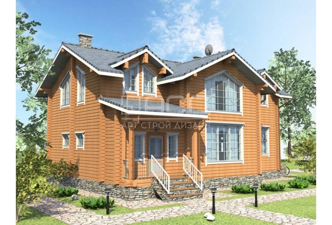 Проект дома из клееного бруса Вильянди 250