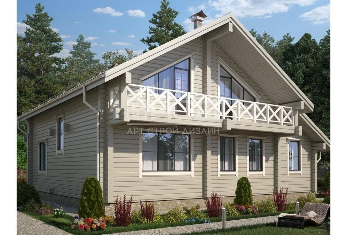 Проект дома из клееного бруса Премьер 210