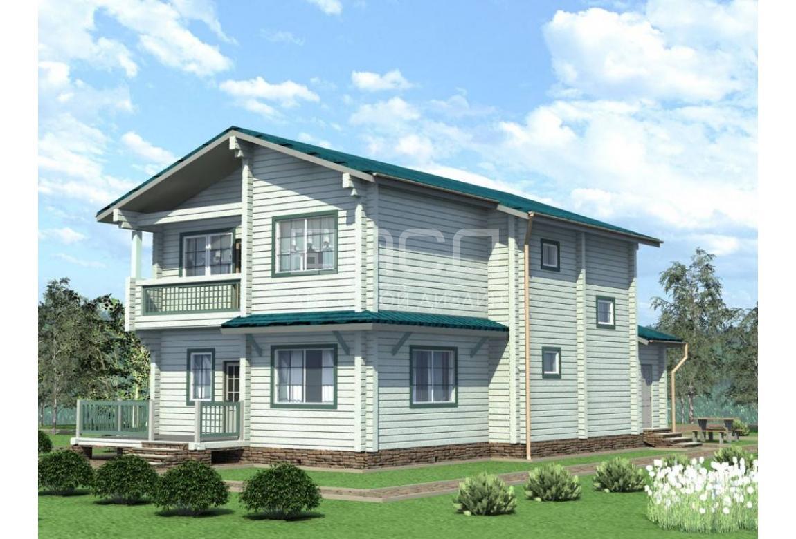 Проект дома из клееного бруса Снегири 232