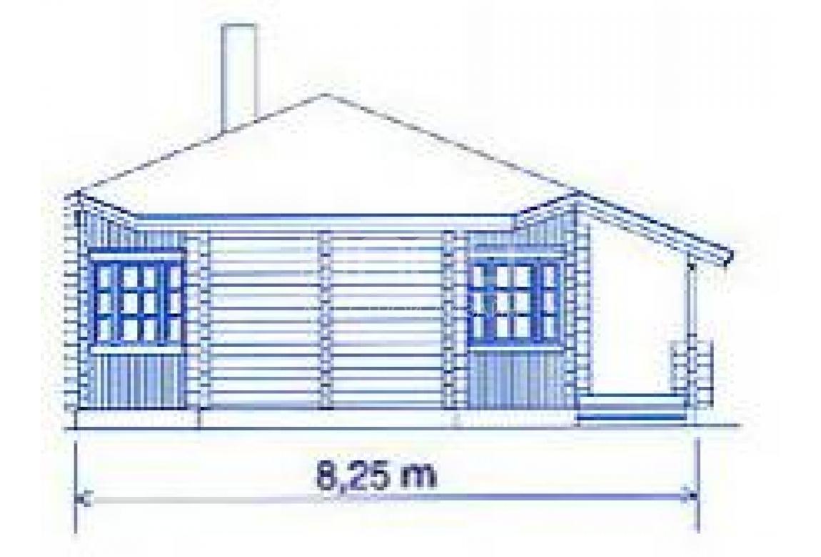 Проект дома из клееного бруса DD2-656