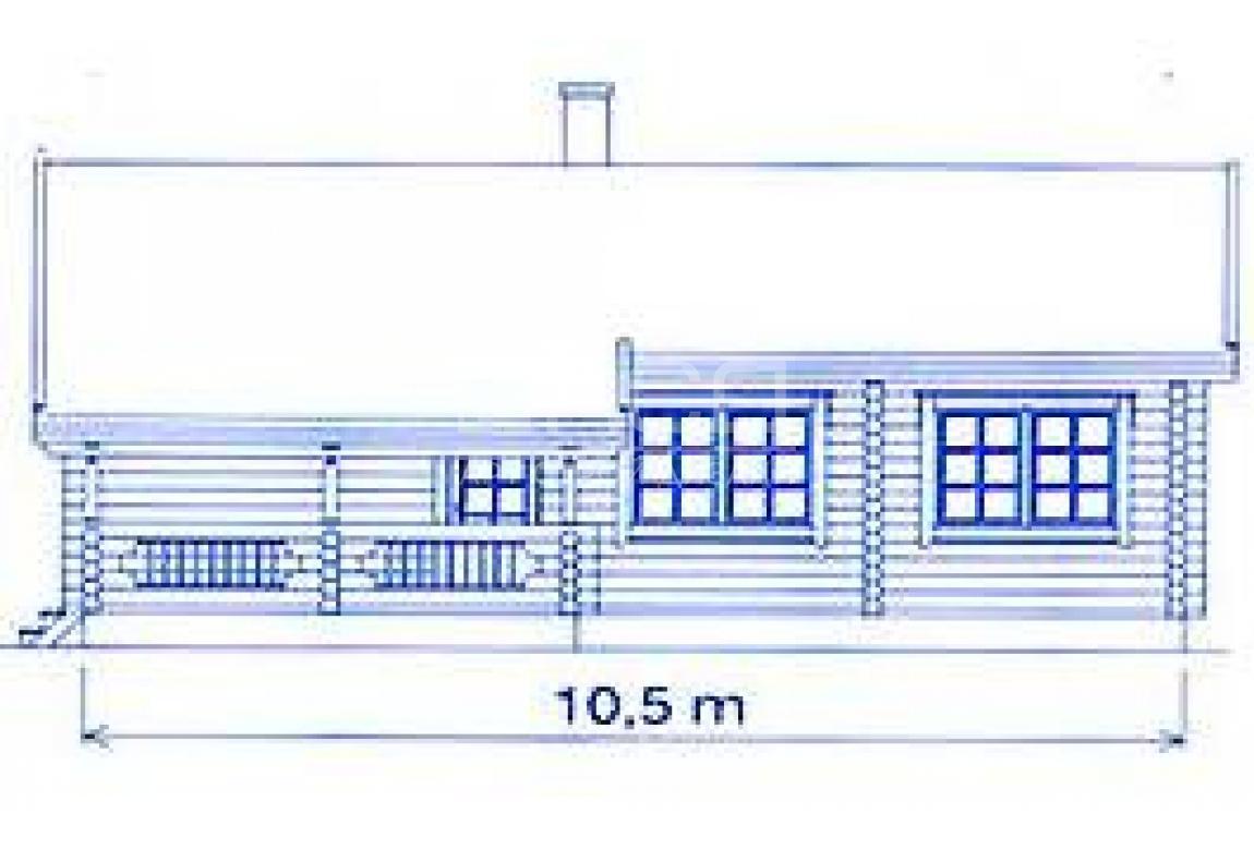 Проект дома из клееного бруса DD2-657
