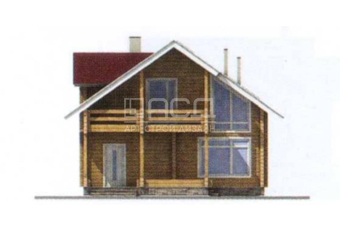 Проект дома из клееного бруса 11-54