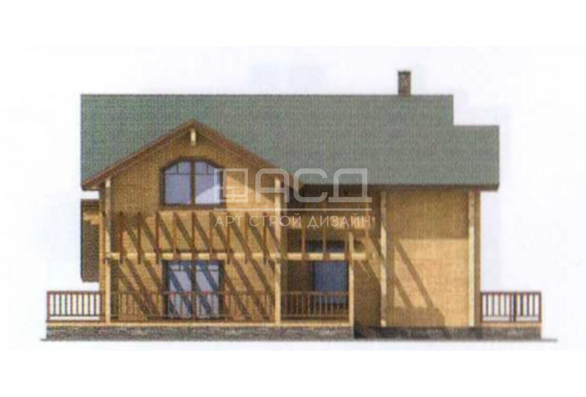 Проект дома из клееного бруса 11-83