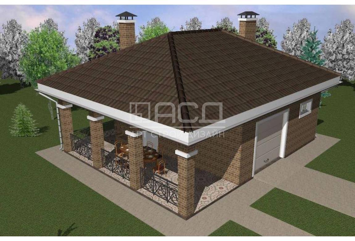 Проект гаража МП-805