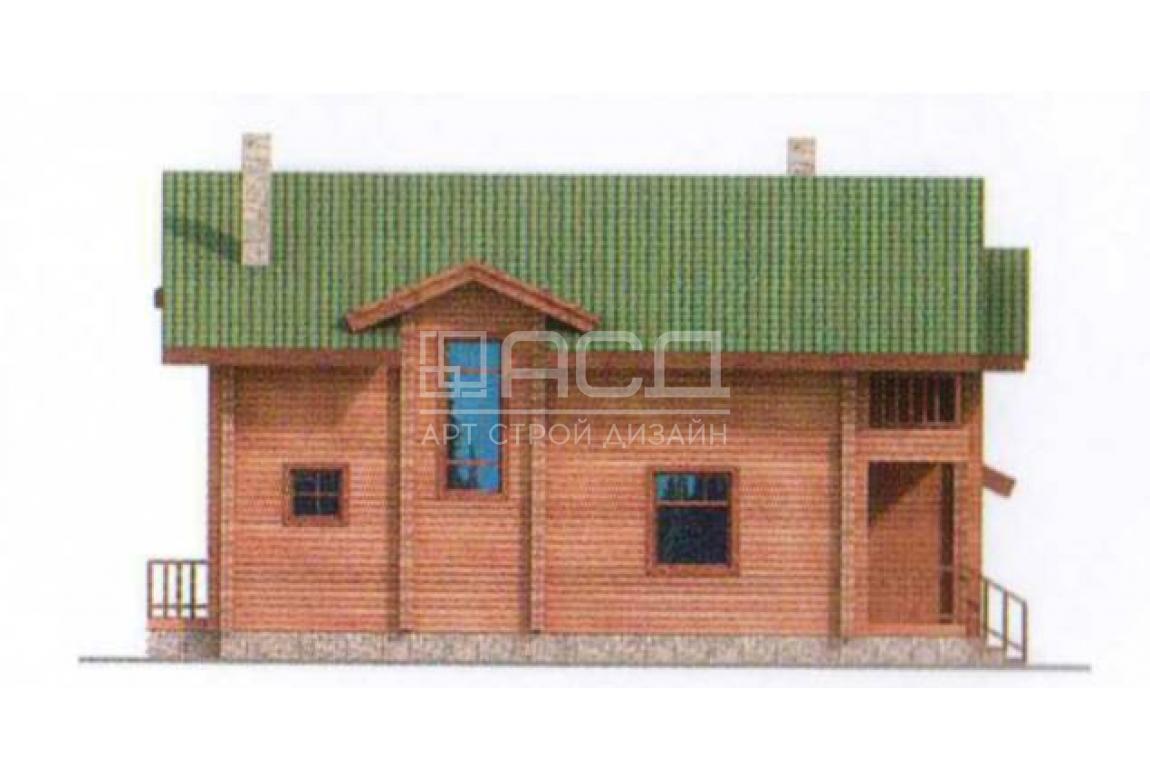 Проект дома из клееного бруса 10-54