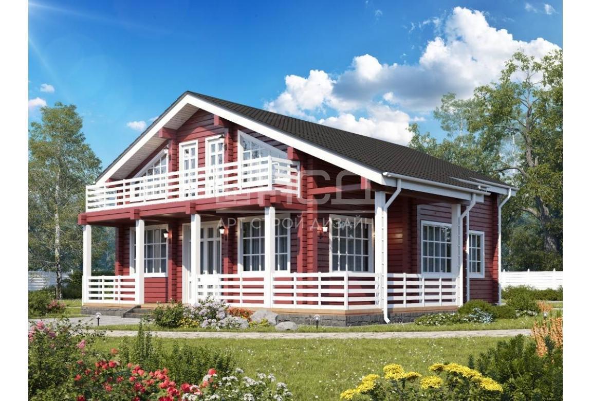 Проект дома из клееного бруса 230