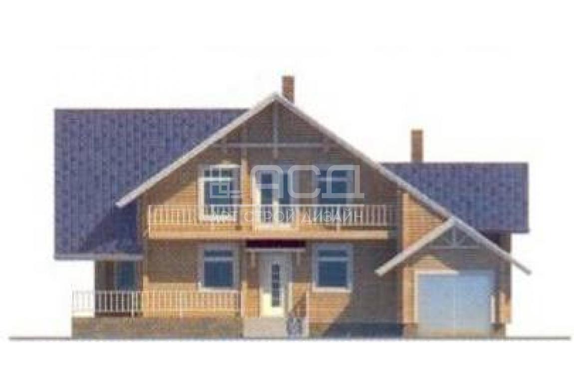 Проект дома из клееного бруса 10-97