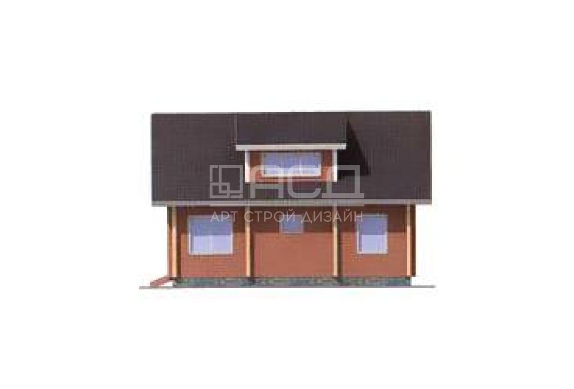 Проект дома из клееного бруса 11-95