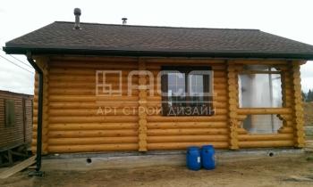 Дом-усадьба из бревна с баней и гаражом в Зеленограде