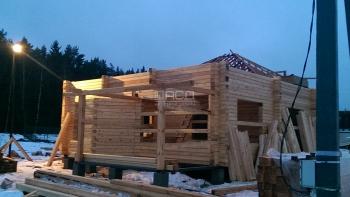 Строительство дома из бруса в поселке Голубое