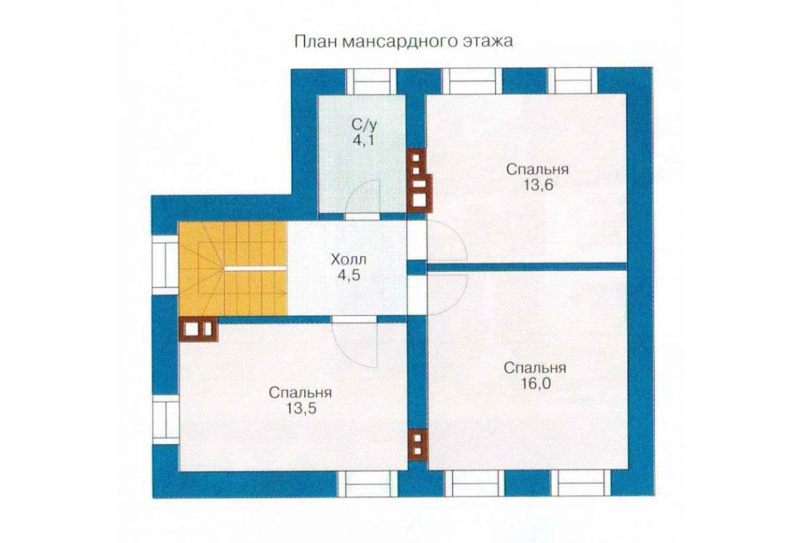 План N1 проекта кирпичного дома АСД-1001