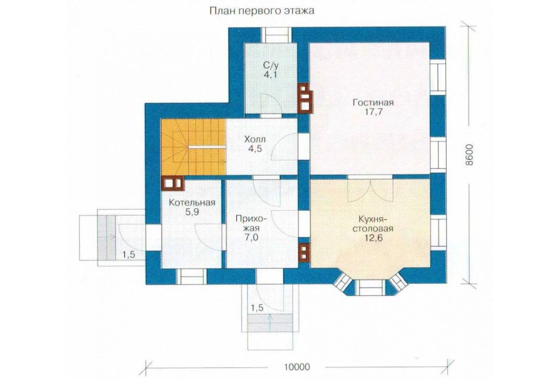 План N2 проекта кирпичного дома АСД-1001