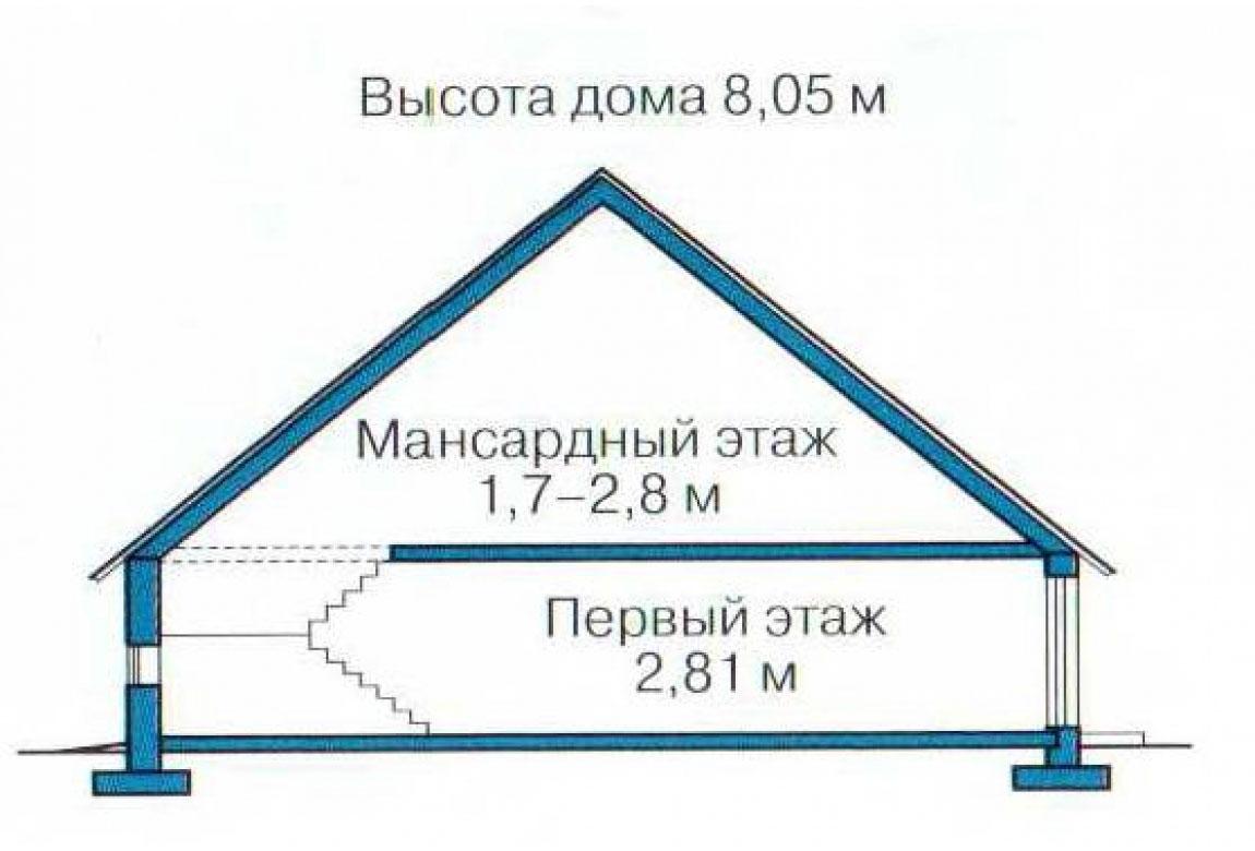 План N3 проекта кирпичного дома АСД-1001