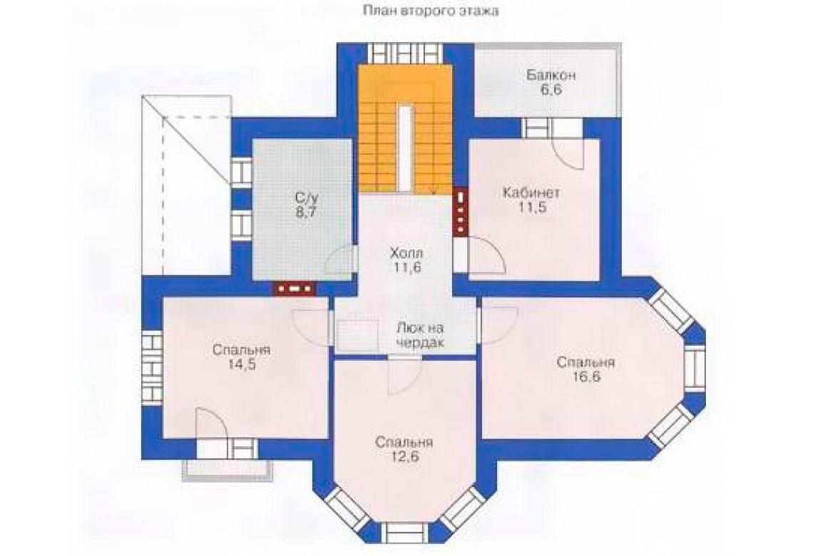 План N2 проекта кирпичного дома АСД-1010