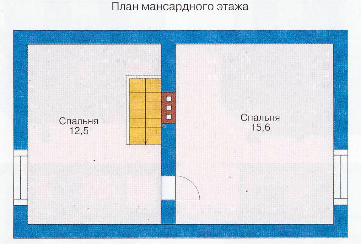План N1 проекта дома из блоков АСД-1101