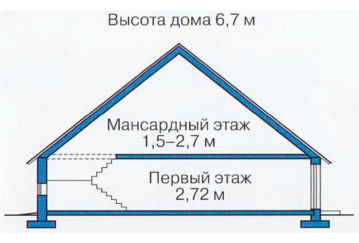 План N3 проекта дома из блоков АСД-1101