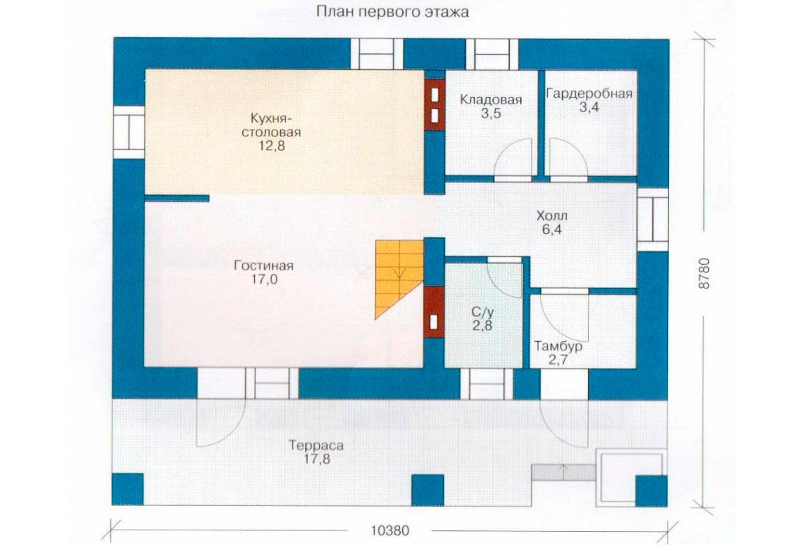 План N2 проекта дома из блоков АСД-1102