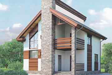 Проект дома из блоков АСД-1103