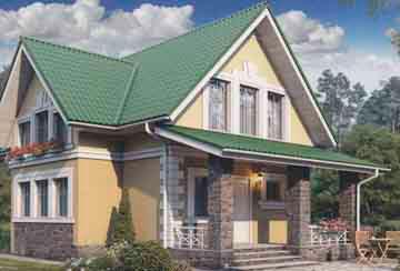 Проект дома из блоков АСД-1104