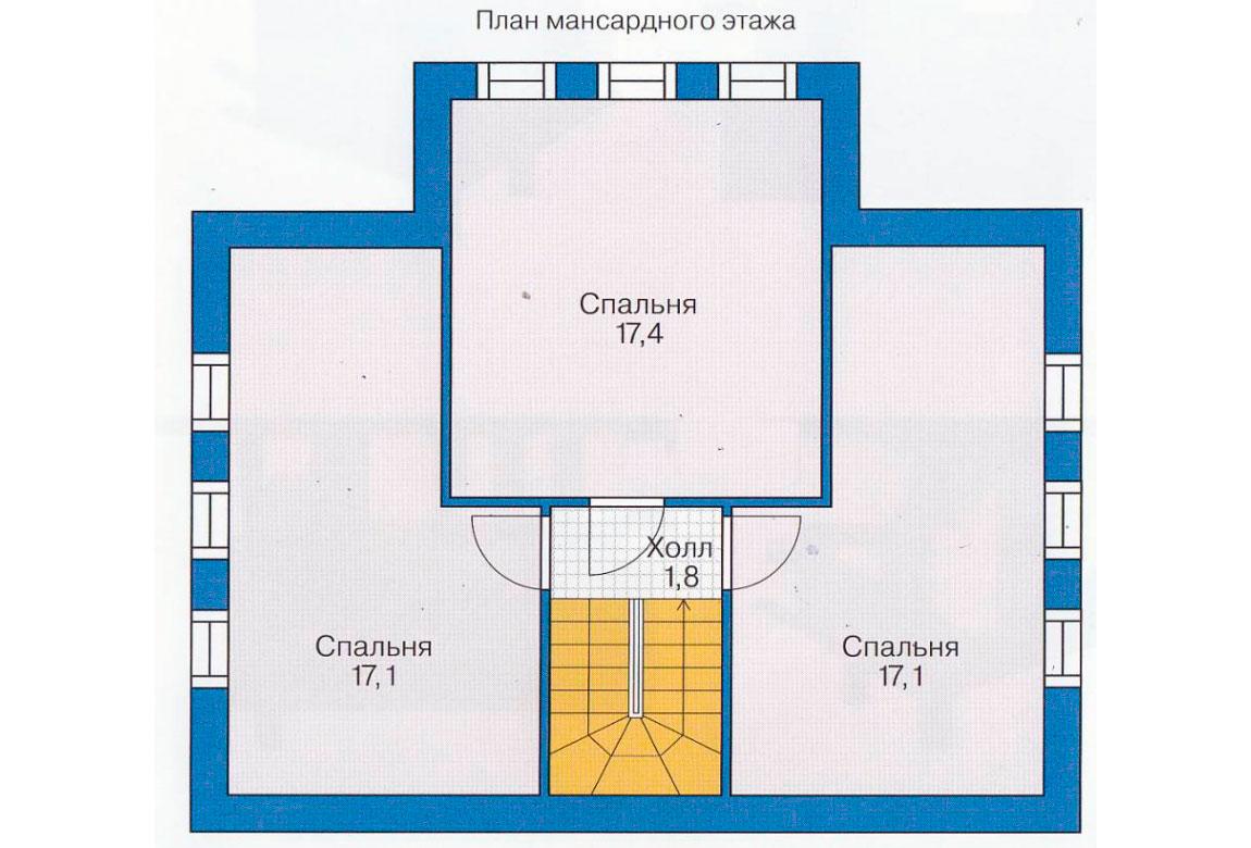План N1 проекта дома из блоков АСД-1104