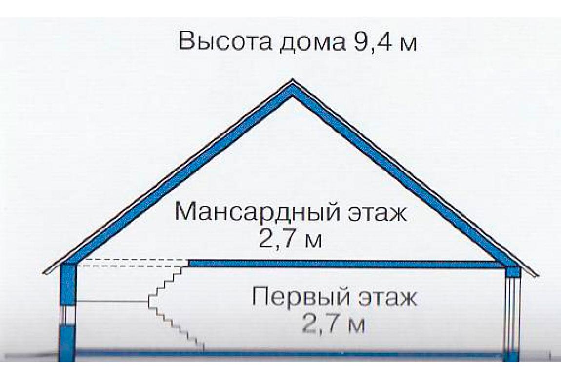 План N3 проекта дома из блоков АСД-1106