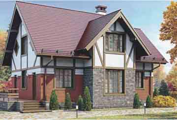 Проект дома из блоков АСД-1107