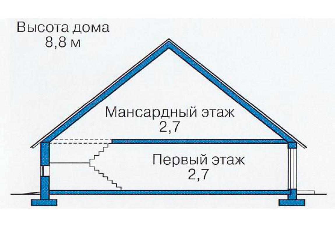 План N3 проекта дома из блоков АСД-1107