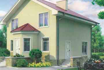 Проект дома из блоков АСД-1108