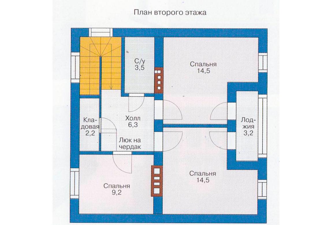 План N1 проекта дома из блоков АСД-1108