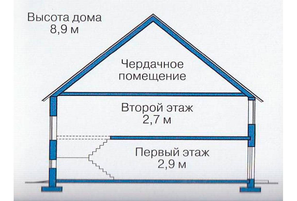 План N3 проекта дома из блоков АСД-1108