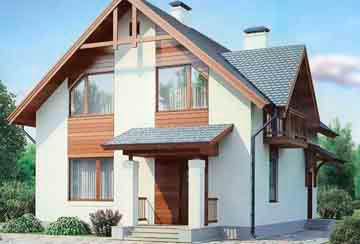 Проект дома из блоков АСД-1109