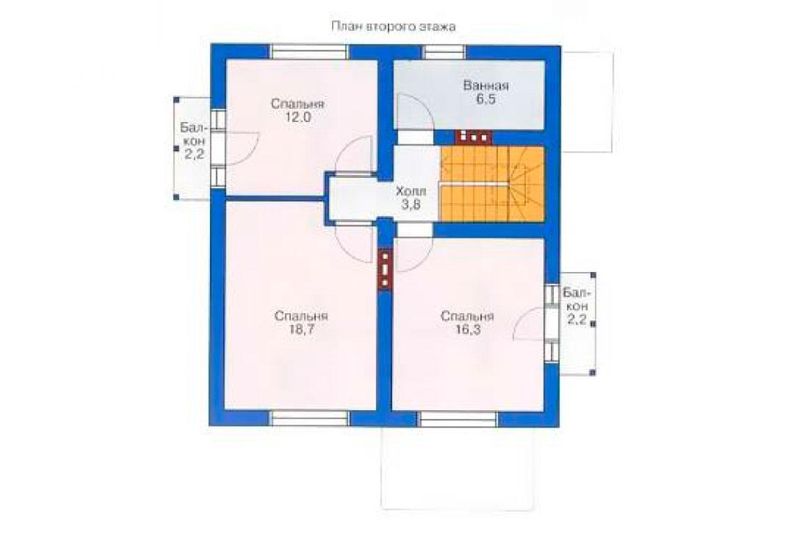 План N2 проекта дома из блоков АСД-1109