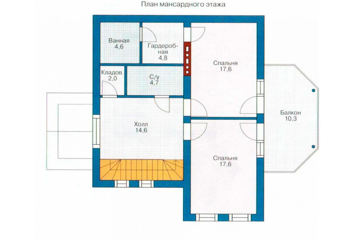 План N2 проекта кирпичного дома АСД-1011