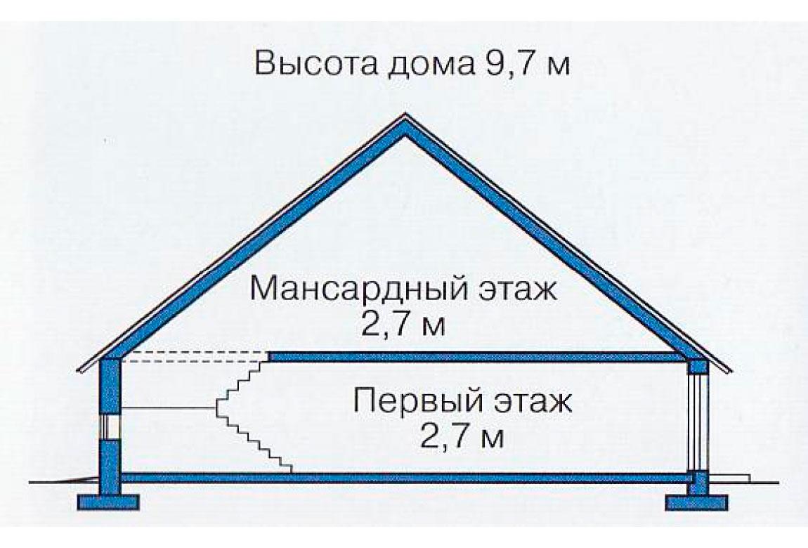 План N3 проекта дома из блоков АСД-1110