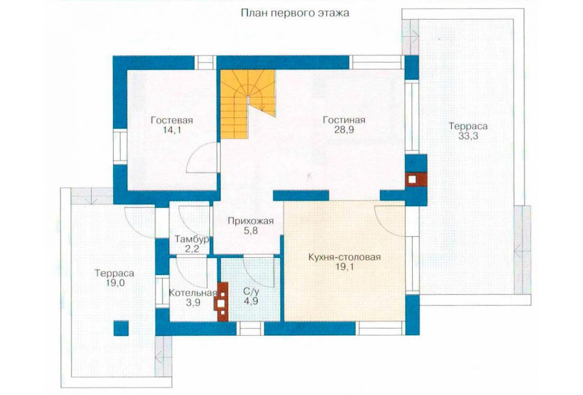 План N2 проекта дома из блоков АСД-1111