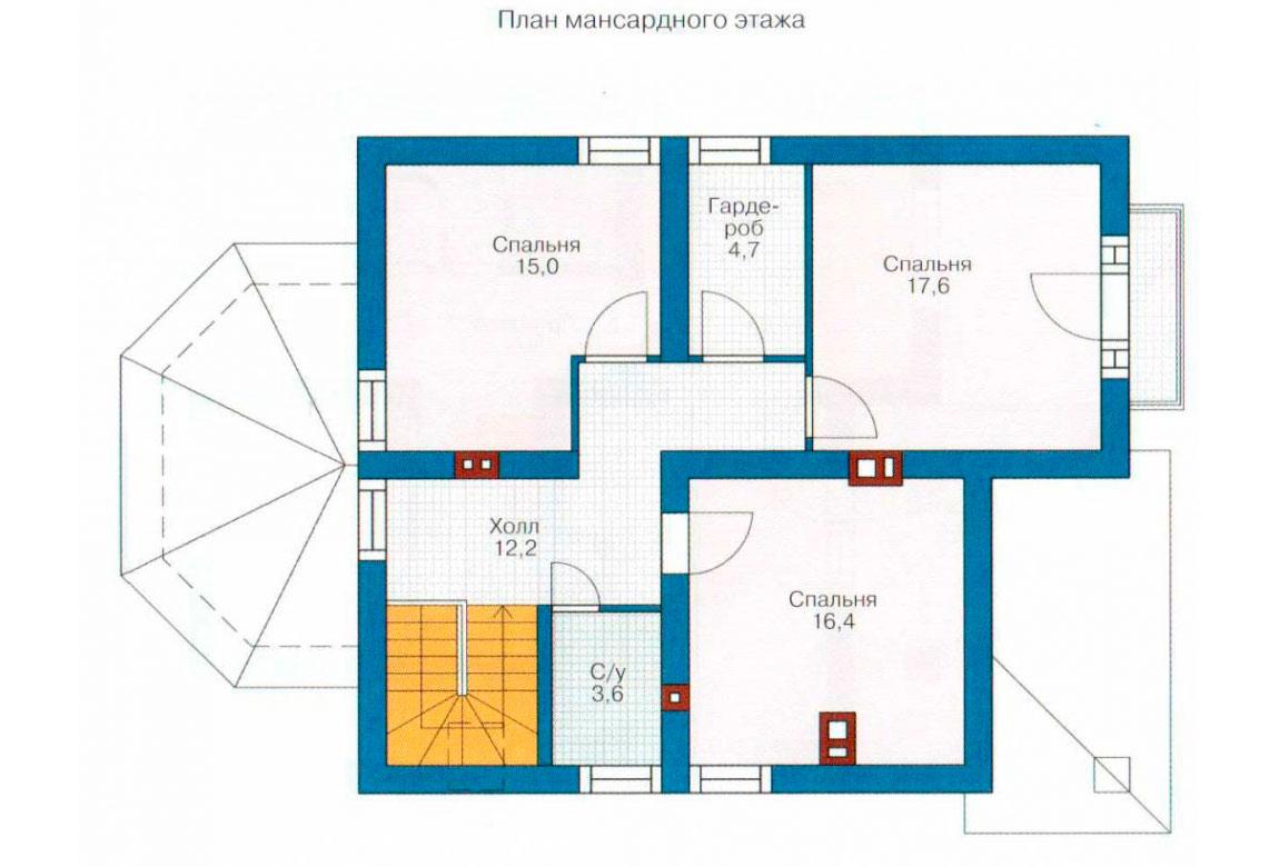 План N2 проекта дома из блоков АСД-1113